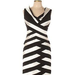 Xscape Black and White Cocktail Dress